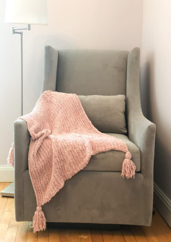velvet yarn blanket knitting pattern