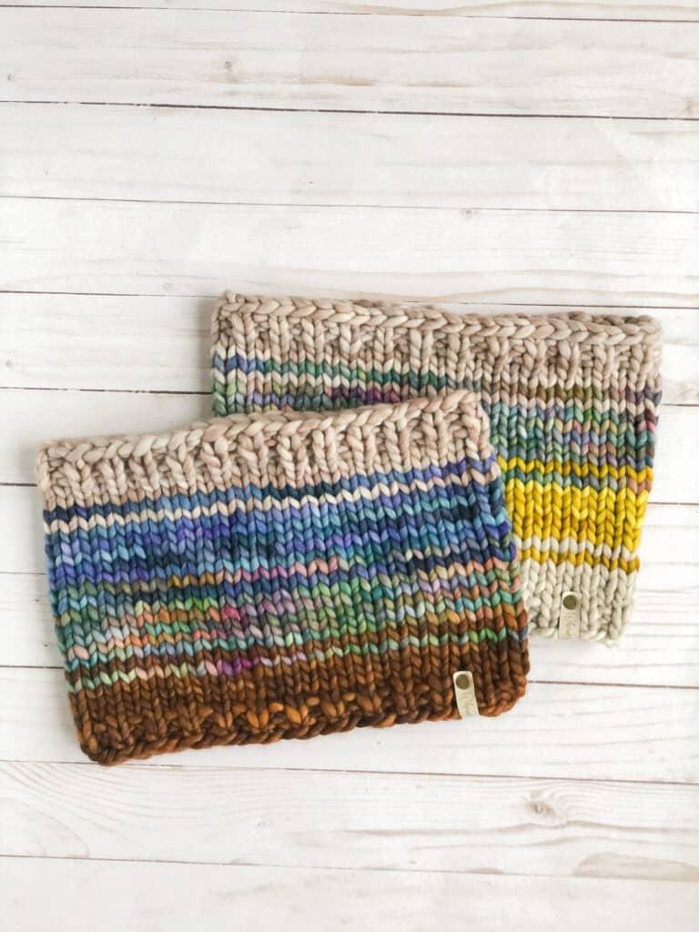 Easy Beginner Cowl Knitting Pattern