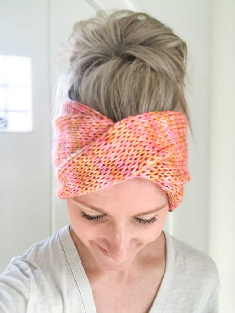 Free Addi Knitting Machine Headband Pattern