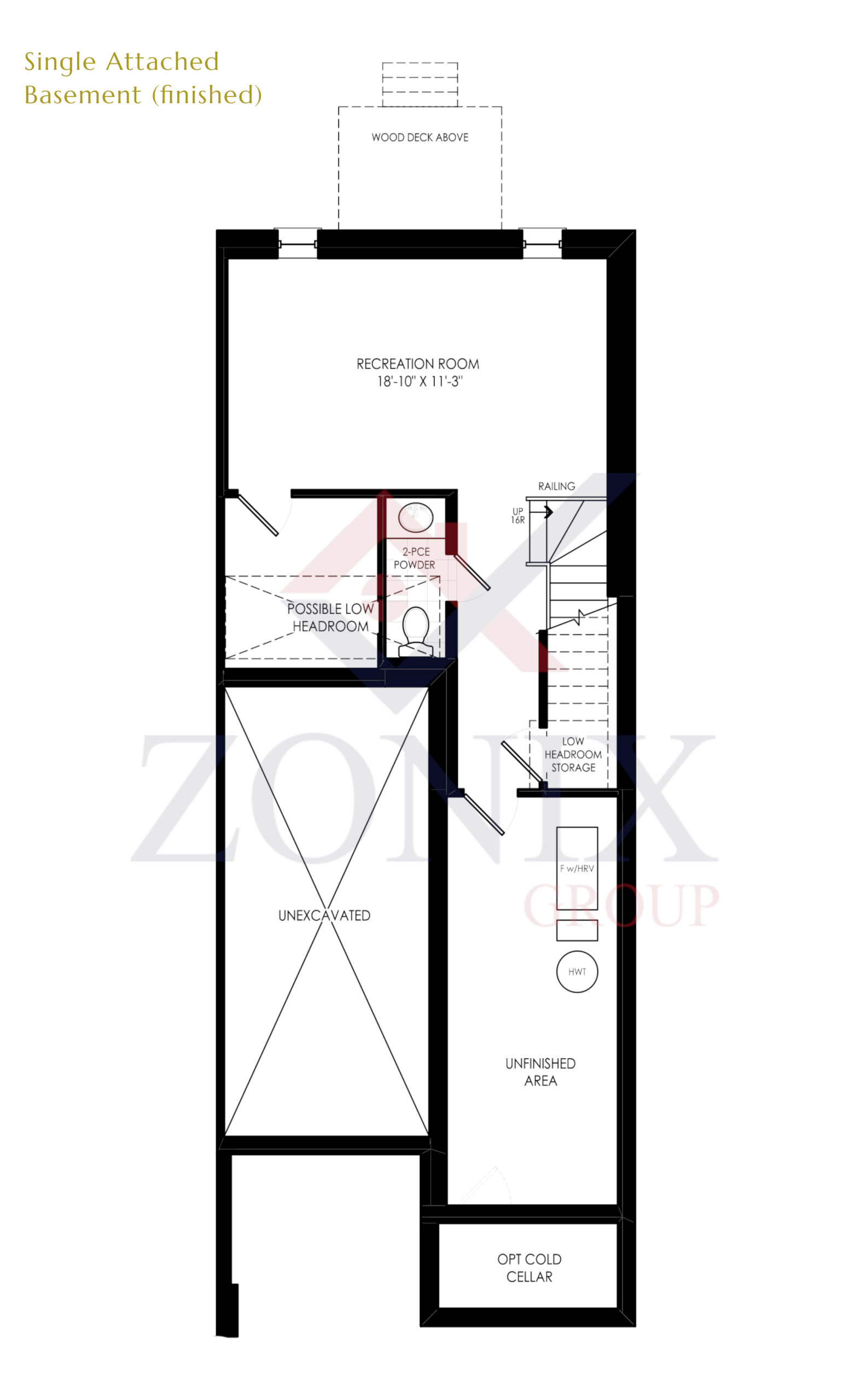 Attached Single Basement (Finished)