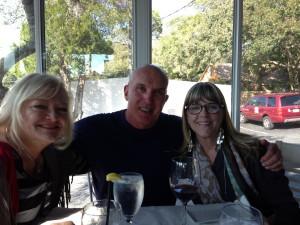 NancyKayWessman, Robert O'Daniel, me at lunch in Fairhope