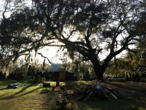 Setting for the Shoe Burnin' in Waterhole Branch, Alabama