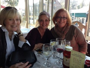 Ren Hinote, Phyllis Geary, Susan Marquez at lunch in Fairhope