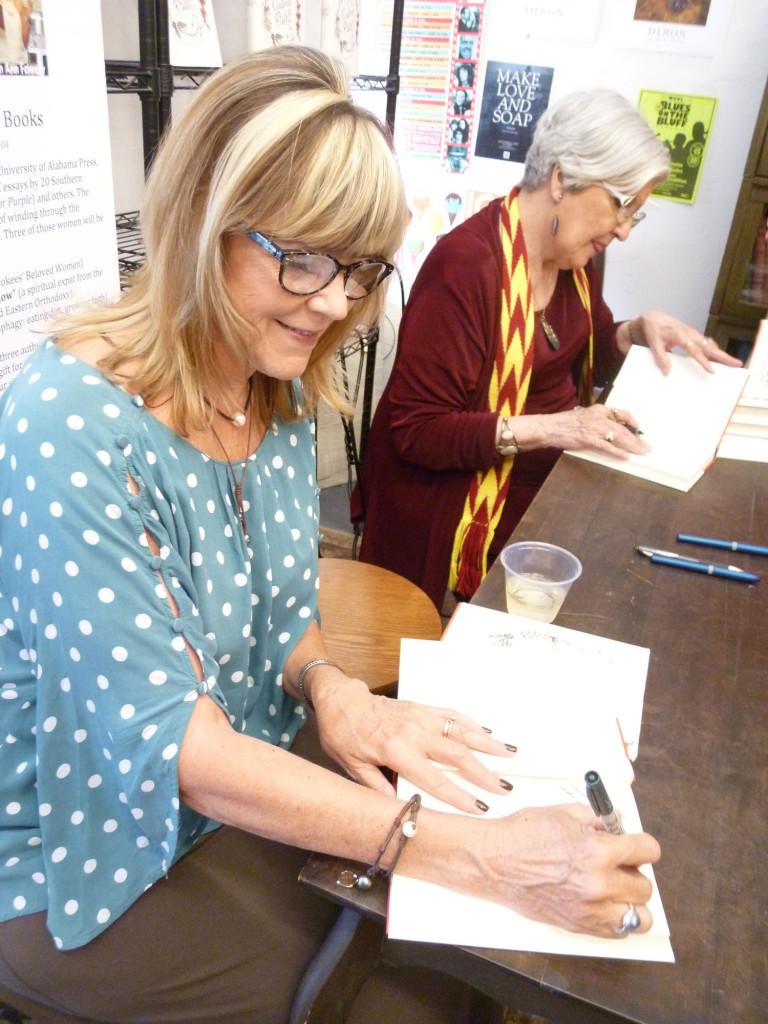 Susan and Marilou signing Circling Faith at Burke's Books, July 2012