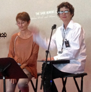 Lari White and Suzanne Hudson in The Shoe Burnin' Show