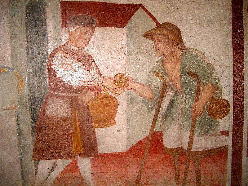 Sperindio Cagnola, Works of Mercy (Feed the hungry), 1514 -24, Paruzzaro, San Marcello Church - May, 2009