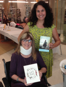 With Julie Cantrell at Memphis Library's 2013 Bookstock last October (in a wheelchair)