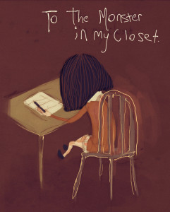 to monster in closet