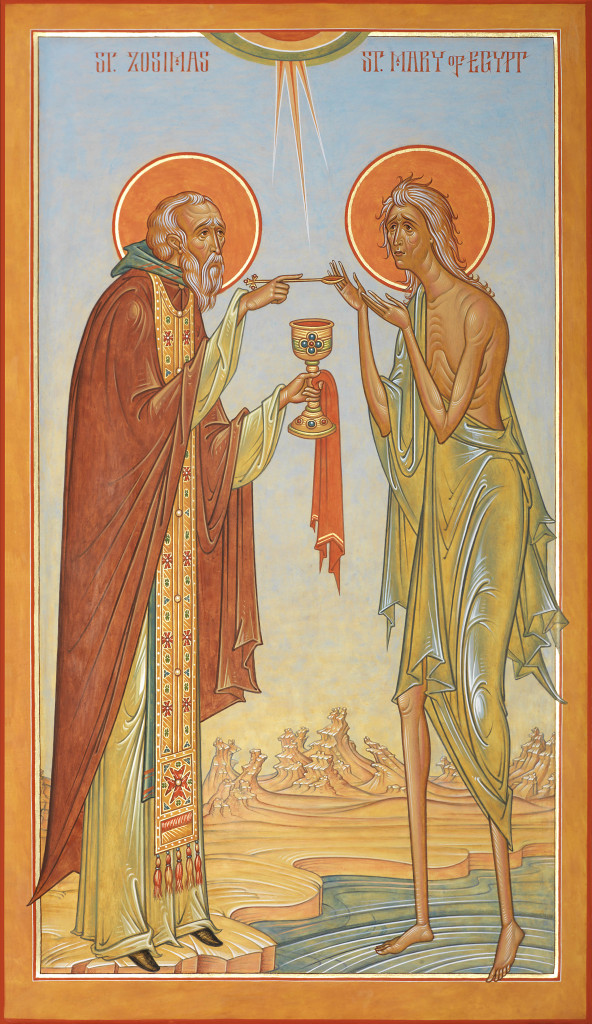 Saints Zosimas and Mary by Father Silouan Justiniano