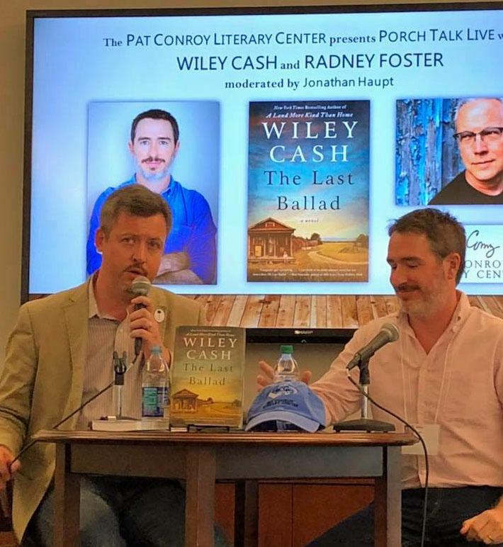Jonathan Haupt introducing Wiley Cash