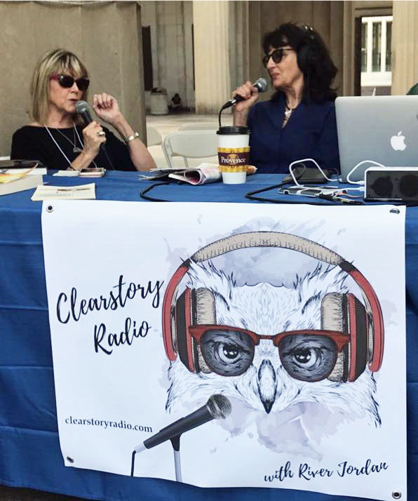 It's so much fun being interviewed by Clearstory Radio host River Jordan!
