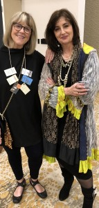 Dressed as Joan Didion (those are some of her books in my necklace) for the final party, with River Jordan in her Bohemian chic outfit
