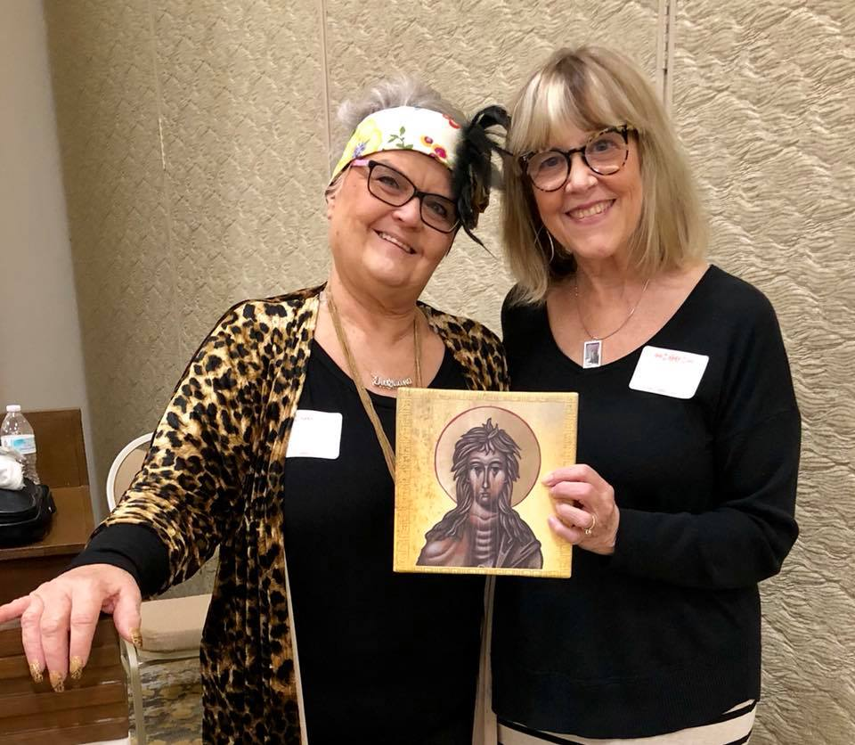 """Thanks to Tiajuana Anderson Neel who bought the """"weeping"""" icon of Saint Mary of Egypt that I contributed."""