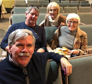 At the library in Oxford, Mississippi: Ed Croom, Neil White, Gayle Henry, and Mary Ann Bowen