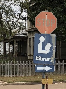 Library Sign STOP ABERDEEN