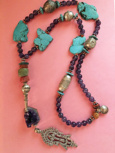 Prayer bead necklace made for me by Suzanne in 2013