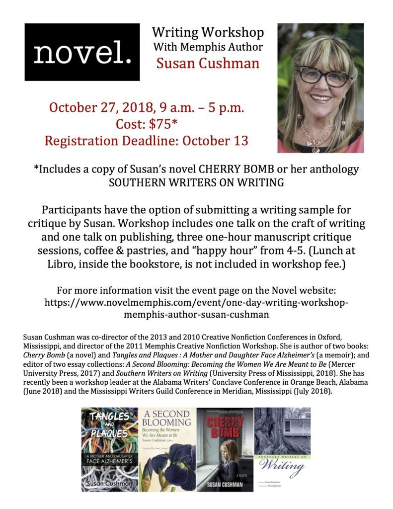 Novel Workshop Flyer Cushman