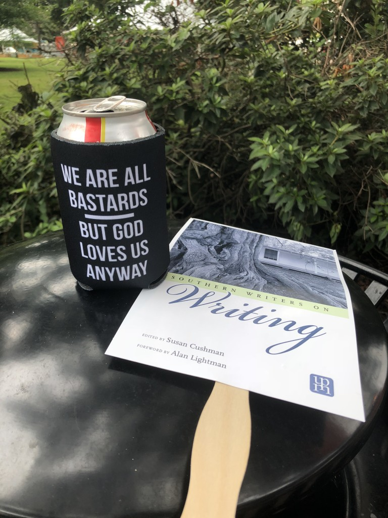 This koozie from University Press of Mississippi with the wonderful quote from Will D. Campbell just made my day! (and kept my Diet Cokes cold all day)