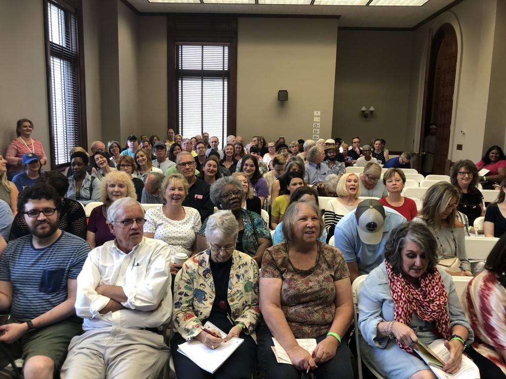Audience (before the room completely filled!) for my panel for SOUTHERN WRITERS ON WRITING at the Mississippi Book Festival