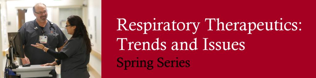 April Respiratory Spring Series Flyer banner