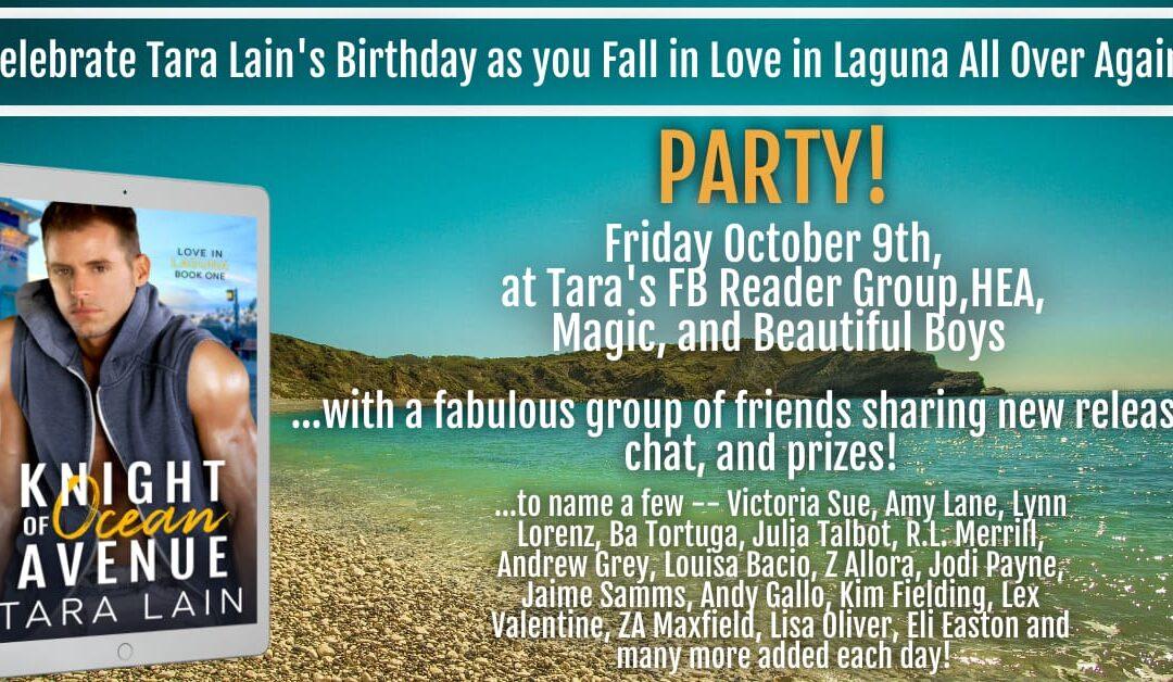 Love in Laguna Birthday Party at Tara Lain's FB Group!