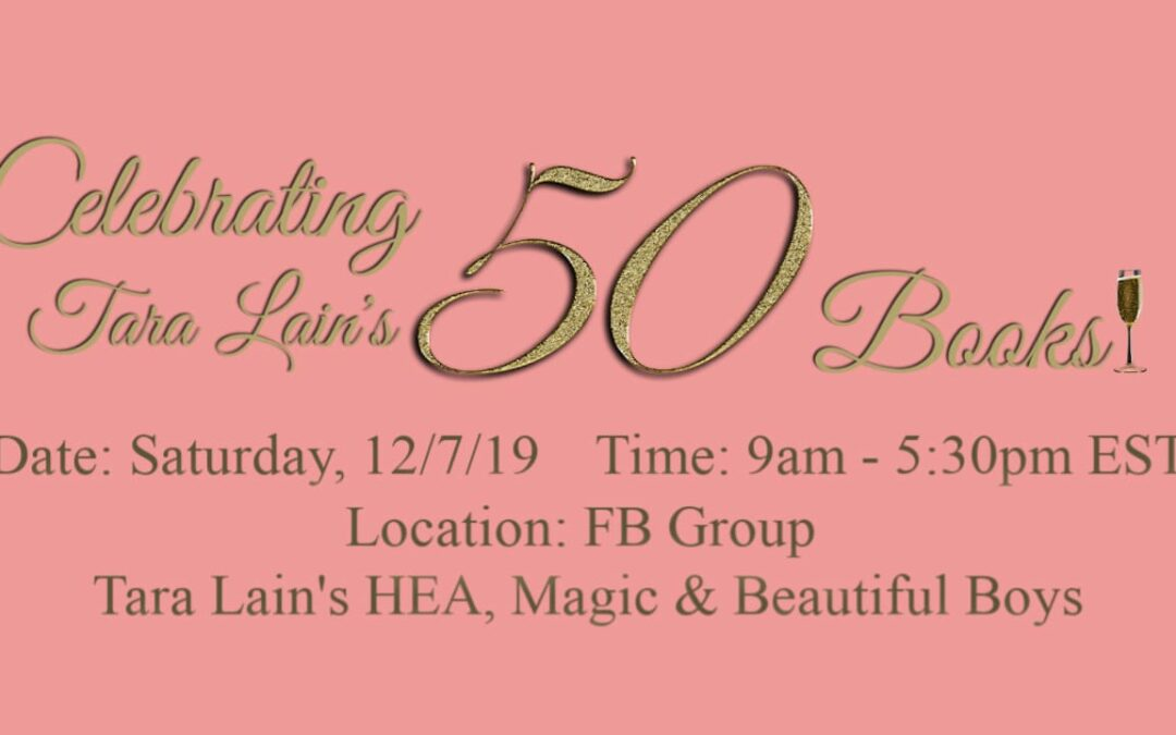 Tara Lain Celebrates Her 50th Book with a Party —You're Invited