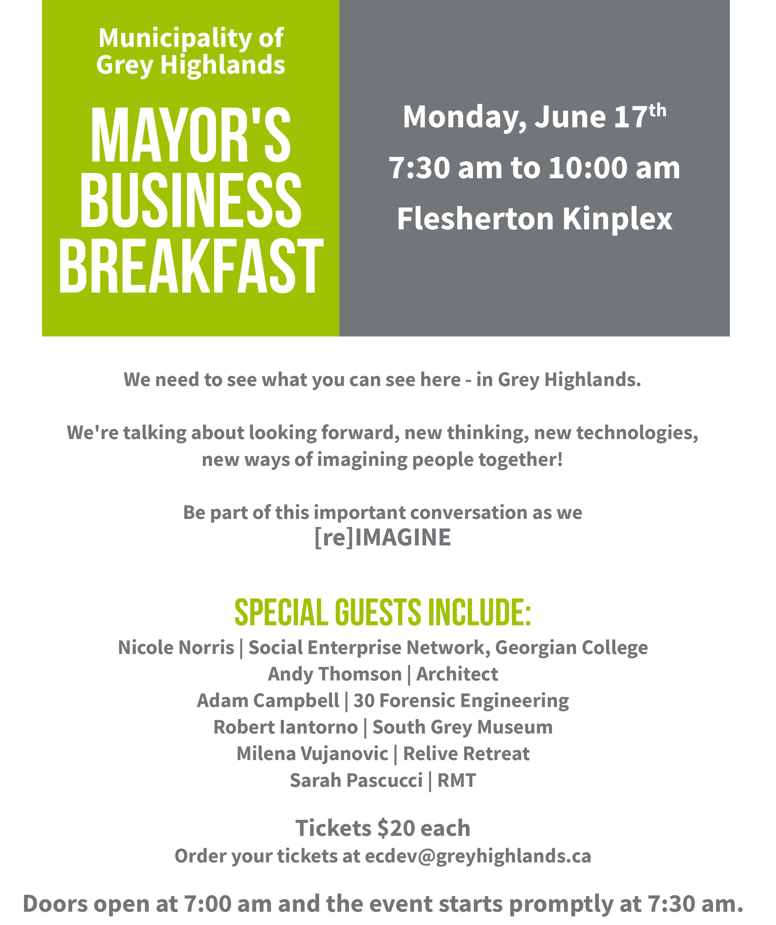 Mayor's Business Breakfast!