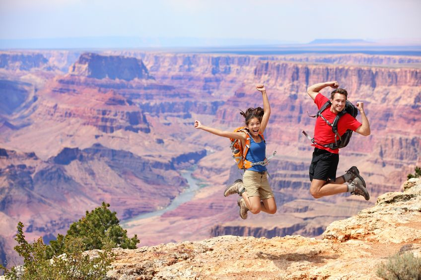 International Students Touring the Grand Canyon in America