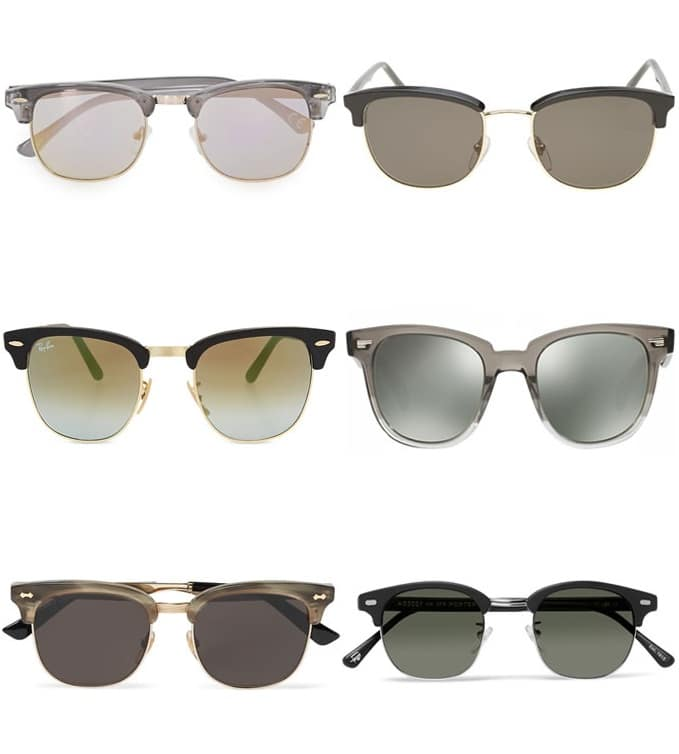 Complete Guide To Sunglasses Styles - Clubmasters