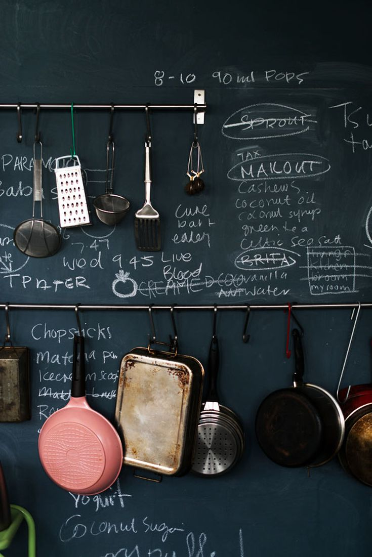 Rooms with Moody Schemes - Chalkboard Paint