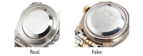 Guide On How To Spot a Fake Rolex - Caseback Engravings