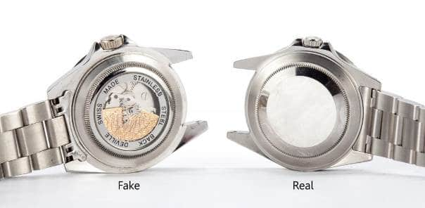 Guide On How To Spot a Fake Rolex - Clear Caseback