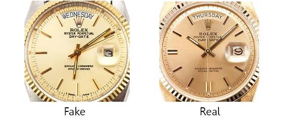 Guide On How To Spot a Fake Rolex - Dial