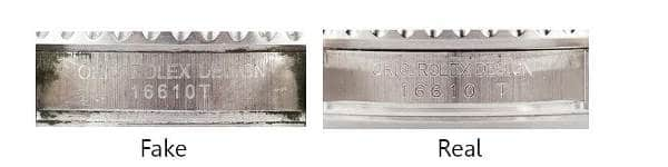 Guide On How To Spot a Fake Rolex - Serial & Model Number Stamping