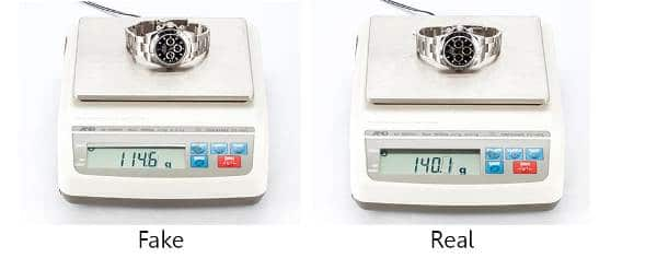 Guide On How To Spot a Fake Rolex - Weight