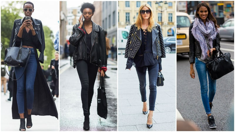 How To Wear Skinny Jeans For Women - Pair them with a Leather Jacket
