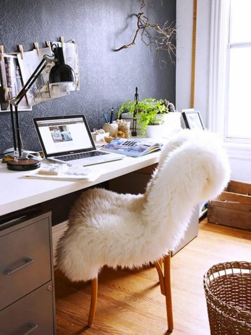 How To Decorate With Sheepskin Rug - Be the Office Sensation