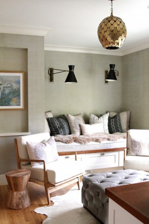 How To Decorate With Sheepskin Rug - Cozy Up a Reading Nook