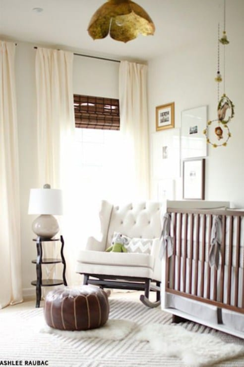 How To Decorate With Sheepskin Rug - Nest Away in the Nursery