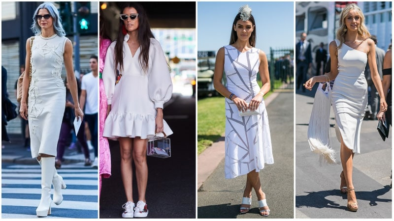 All White Dress Outfits