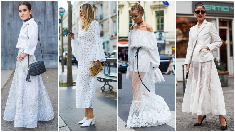 All White Lace Outfits