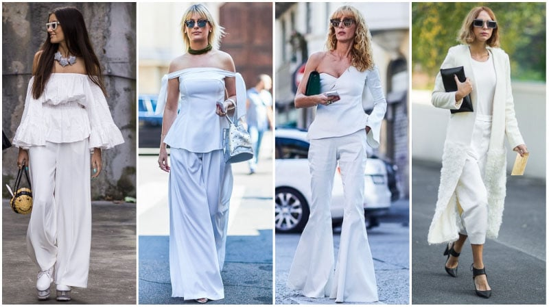 All White Pants Outfits