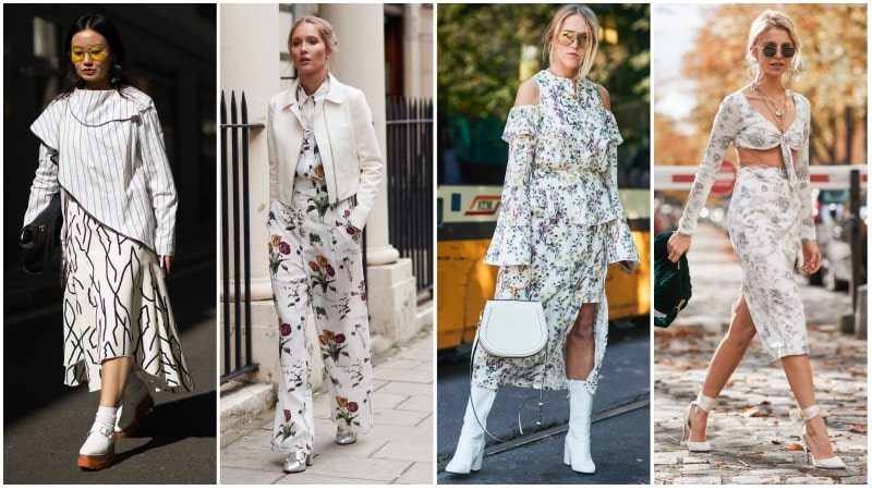 All White Print Outfits
