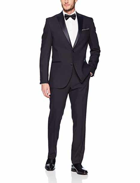 Kenneth Cole REACTION Men's finished tuxedo with hemmed pant