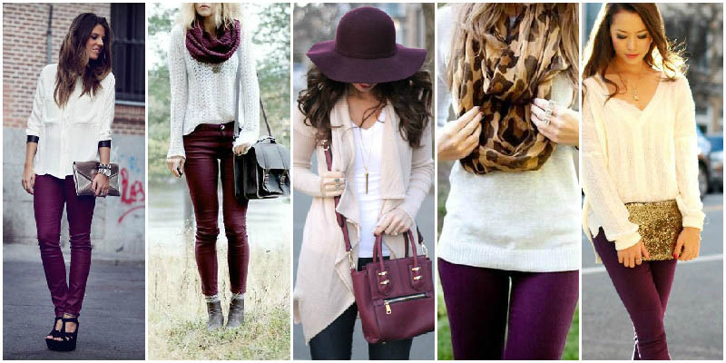 Purple and White Perfect Clothing Colour Combinations