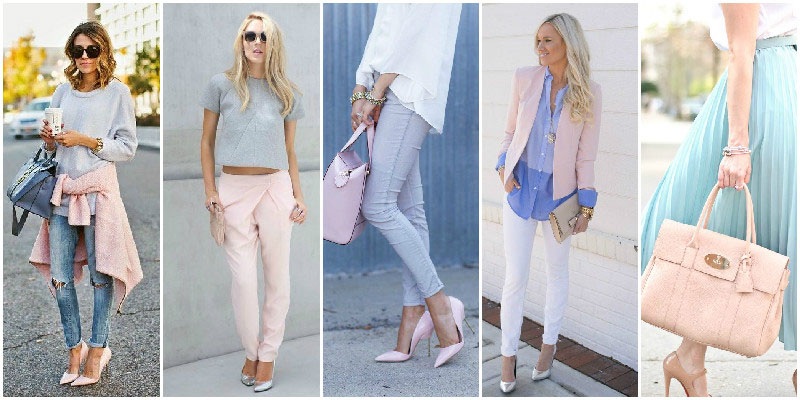 Pale Blue and Pink Colour Combinations