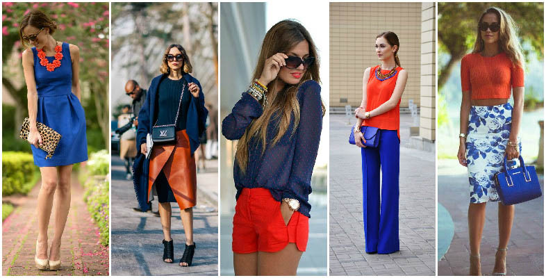 Orange and Blue Colour Combinations