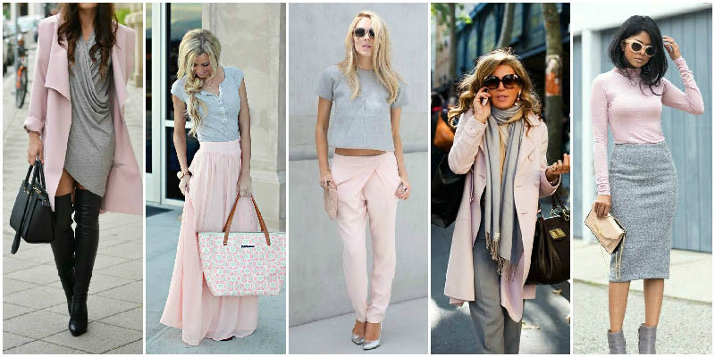 Pink and Grey  Perfect Clothing Colour Combinations