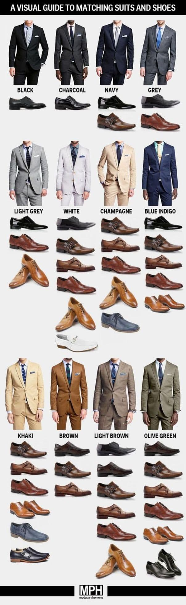 Matching Suits And Dress Shoe Colors