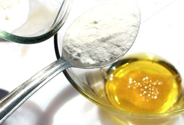 use Olive Oil - Baking Soda Homemade Mask once weekly to maintain firm and even-toned skin